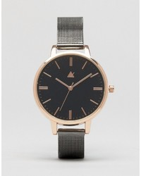 Asos Blackout Gunmetal Mesh Watch