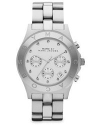 Marc by Marc Jacobs Blade Glitz Stainless Steel Chronograph Bracelet Watch