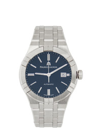Maurice Lacroix Blue And Silver Aikon Automatic Watch