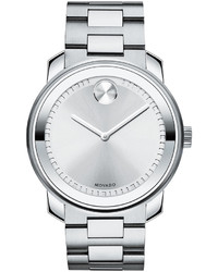 Movado Bold 425 Stainless Steel Watch Silver