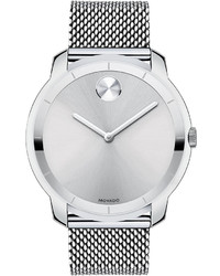 Movado Bold 44mm Bold Watch With Mesh Bracelet Silver
