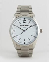 Ben Sherman Bracelet Strap Watch In Silver