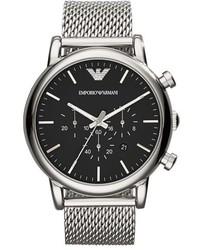 Emporio Armani Chronograph Mesh Strap Watch 46mm