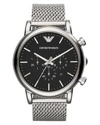 Emporio Armani Chronograph Mesh Strap Watch