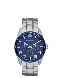 Claiborne Blue Silver Tone Chronograph Watch