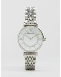 Emporio Armani Silver Gianni T Bar Watch Ar1908