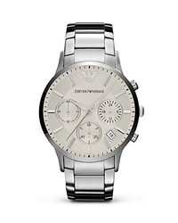 Emporio Armani Silver Stainless Steel Watch 43mm