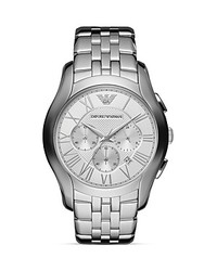 Emporio Armani Valente Silver Tone Watch 445mm