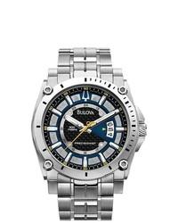 Eziba Bulova Precisionist Champlain Silver Watch