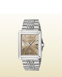Gucci G Timeless Medium Stainless Steel Rectangle Watch