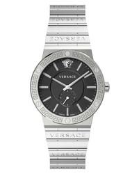 Versace Greca Black Sunray Bracelet Watch