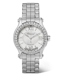 Chopard Happy Sport 30mm Stainless And Diamond Watch
