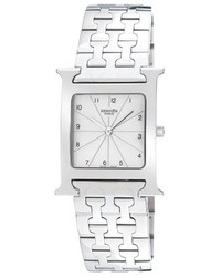 Herm S Stainless Steel Heure H Watch 30mm
