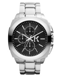 Karl Lagerfeld Keeper Chronograph Bracelet Watch 46mm Silver Black