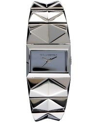 Karl Lagerfeld Stainless Steel Spike Strap Watch