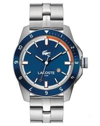 Lacoste Durban Bracelet Watch 44mm Silver Blue