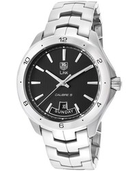 Tag Heuer Link Automatic Stainless Steel Skeletonized Black Dial