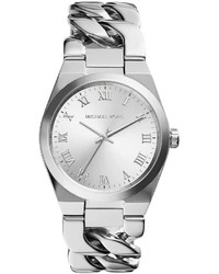 Michael Kors Michl Kors Channing Stainless Steel Chain Link Watch