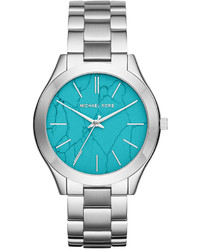 Michael Kors Michl Kors Slim Runway Stainless Steel Bracelet Watch 42mm Mk3503 Only At Macys