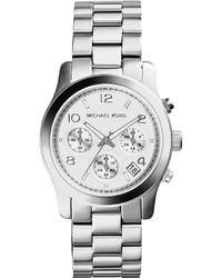 MICHAEL Michael Kors Michl Michl Kors 39mm Jet Set Chronograph Bracelet Watch Silver