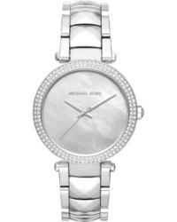 MICHAEL Michael Kors Michl Michl Kors 39mm Parker Glitz Bracelet Watch Silver