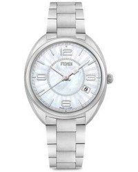 Fendi Moto Mother Of Pearl Stainless Steel Bracelet Watch