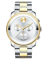 Movado Bold Two Tone Chronograph Watch 44mm