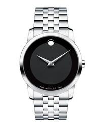 Movado Museum Bracelet Watch 40mm Silver