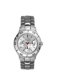 Nautica Metal Basic N10074 Silver Stainless Steel Quartz Watch With Silver Dial