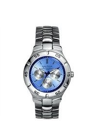 Nautica Metal Basic N10075 Silver Stainless Steel Quartz Watch With Blue Dial