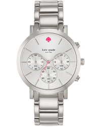 Kate Spade New York Chronograph Gramercy Grand Stainless Steel Bracelet Watch 38mm 1yru0714