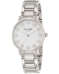 Kate Spade New York Gramercy Dot Stainless Steel Bracelet Watch 34mm 1yru0736