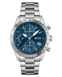 BOSS Pilot Edition Chronograph Bracelet Watch