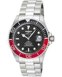 Invicta Pro Diver Redblack Bezel Stainless Steel Automatic Sport Watch 15585