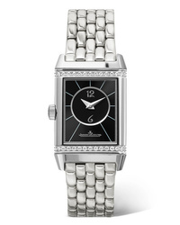 Jaeger-LeCoultre Reverso Classic Duetto Small Stainless And Diamond Watch