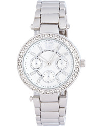 Forever 21 Rhinestone Chronograph Watch
