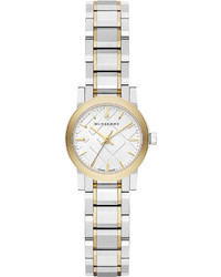 Burberry Round Yellow Golden Stainless Steel Watch 26mm
