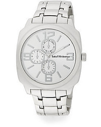 Saks Fifth Avenue Silvertone Chronograph Watch