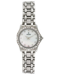 Concord Saratoga Stainless Steel Diamond Watch 24mm