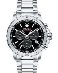 Movado Series 800 Chronograph Watch Silverblack