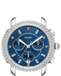 Michele Sidney Chrono Diamond Diamond Dial Watch Case 38mm