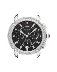 Michele Sidney Chrono Diamond Diamond Dial Watch Case
