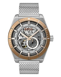 BOSS Signature Timepiece Collection Automatic Mesh Bracelet Watch