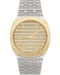 Gucci Silver 34mm 25h Watch