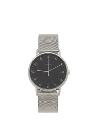 Issey Miyake Men Silver And Black F Series Pm Face Watch