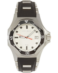 Givenchy Silver Black Five Shark Watch