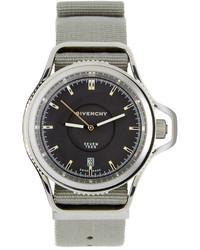Givenchy Silver Black Seventeen Watch