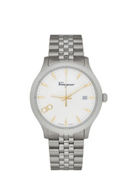 Salvatore Ferragamo Silver Duo Watch