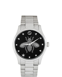 Gucci Silver G Timeless Bee Watch