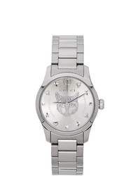 Gucci Silver G Timeless Feline Watch